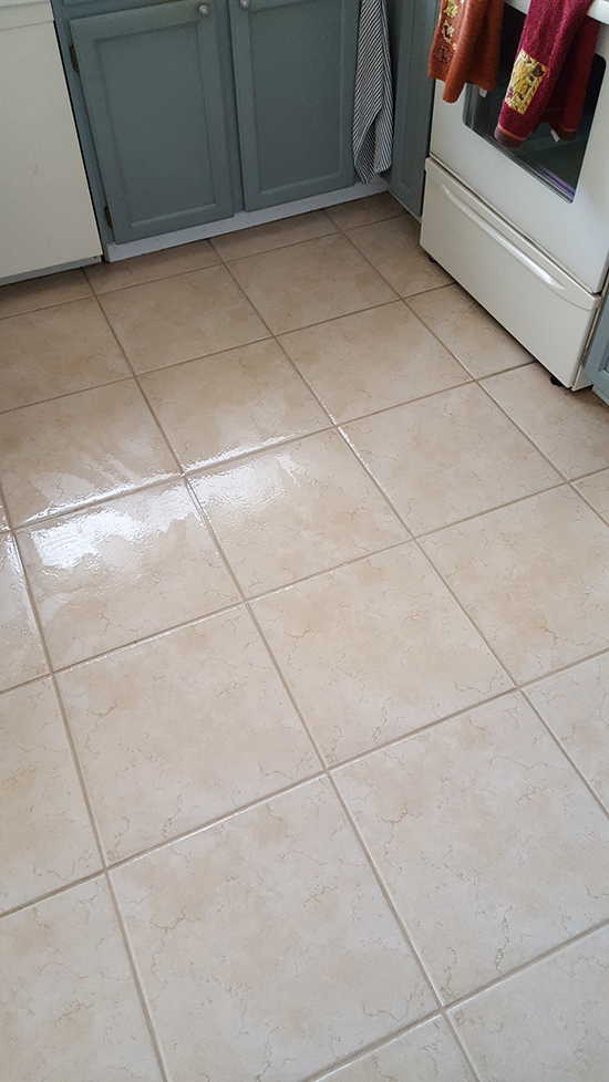 Tile/grout cleaner after